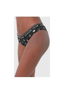 Calcinha Calvin Klein Underwear Tanga Ck One Preta