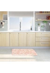 Tapete De Cozinha Mdecore Folhas Coral 40X60Cm