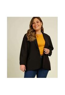 Blazer Plus Size Feminino Alongado