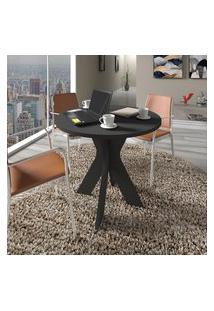 Mesa Redonda Central Artany Sun Home Office 90Cm Preta
