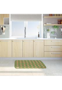 Tapete De Cozinha Mdecore Natal Verde 40X60Cm