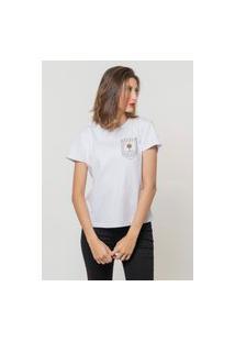 Camiseta Jay Jay Básica Amanhecer No Paraíso Branca Dtg
