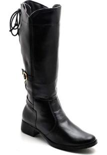 Bota Top Franca Shoes Casual - Feminino-Preto