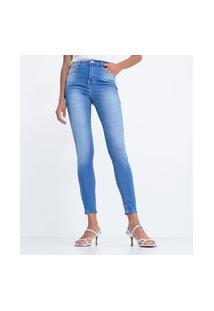 Calça Skinny Push Up Em Jeans Com Lycra® | Blue Steel | Azul | 34