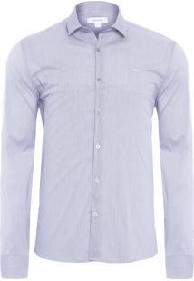 Camisa Masculina Regular Cannes - Cinza