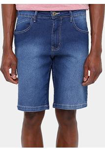 Bermuda Jeans Triton Slim Fit Básica Masculina - Masculino