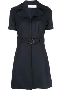 Victoria Victoria Beckham Vestido Com Cinto - Preto