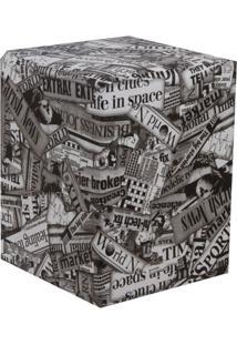 Puff Quadrado Cubo Pop Couro Sintético Americano