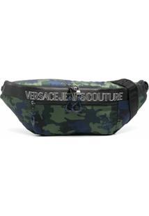 Versace Jeans Couture Pochete Camuflada Outline Com Logo - Verde