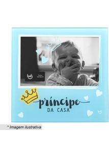 """Porta Retrato """"Príncipe Da Casa""""- Azul Claro & Pretoludi"""