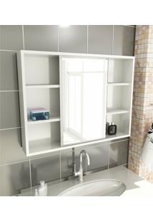 Espelheira Para Banheiro Modelo 22 80 Cm Branca Tomdo