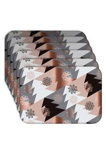 Jogo Americano - Love Decor Modern Christmas Kit Com 6 Peças