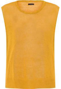 Blusa Feminina Knit Linen - Amarelo