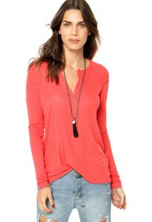 Blusa Animale Raglan Desconstruida Coral