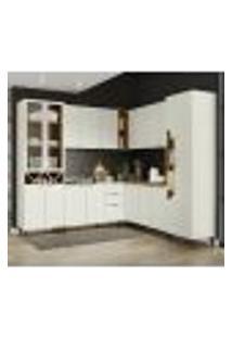 Cozinha Modulada 8 Peças 100% Mdf Essencia 2 Areia Nature Henn
