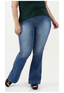 Calça Feminina Flare Stretch Plus Size Uber Jeans