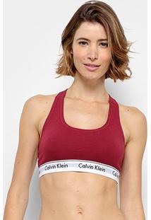 Top Calvin Klein Sem Bojo - Feminino-Bordô
