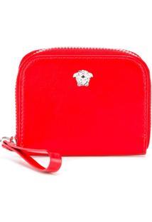 Versace Porta Moedas De Couro - Vermelho