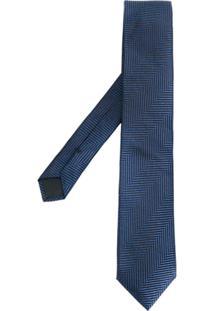 Boss Hugo Boss Gravata Listrada - Azul