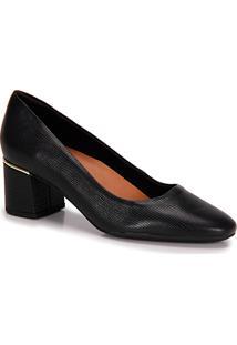 7b4845f60 Passarela. Sapato Com Salto Feminino Usaflex Passarela Preto Conforto  Scarpin Grosso