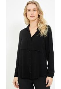 Camisa Ateen Marilia Feminina - Feminino-Preto