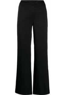 Karl Lagerfeld Calça Pantalona Com Padronagem - Preto