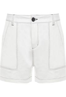 Bermuda Masculina Twill Sleek New - Branco