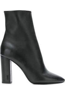 Saint Laurent Ankle Boot 'Lou 95' De Couro - Preto