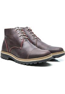 Bota Montreal Couro Floater Cadarço Arauak Boots - Masculino