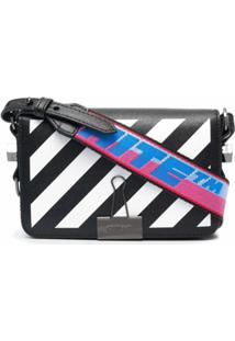 Off-White Bolsa Mini Com Aba - Preto