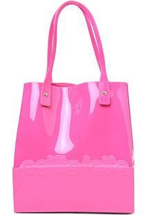 Bolsa Petite Jolie Shopper Feminina - Feminino-Pink