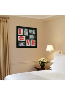 Painel Bee Collection Words Love 4 Fotos 10X15Cm Preto Kapos