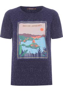 Camiseta Feminina Rio De Janeiro - Azul