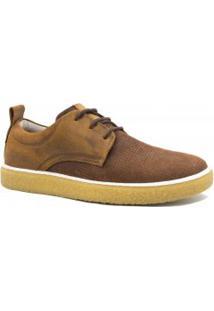 Sapatênis Zariff Shoes Casual Em Couro Solado Crepe