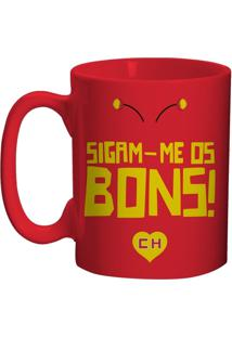 Caneca De Porcelana Vermelha 135Ml Chapolin Urban Home