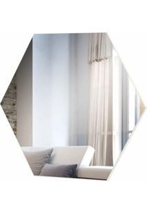 Espelho Hexagono Logus Medio Cor Off White 52 Cm (Larg) - 57970 - Sun House
