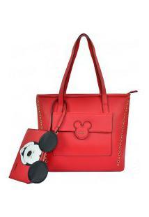 Bolsa Mickey Disney Tote Smile Com Necessaire