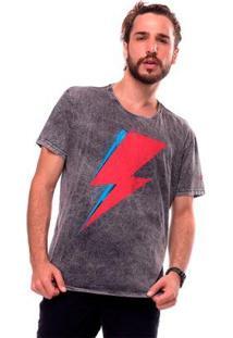 Camiseta Estonada Thunder Liverpool Masculina - Masculino-Preto