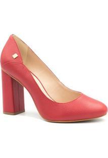 Sapato Loucos E Santos Scarpin Salto Alto - Feminino-Vermelho