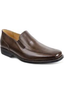 Sapato Social Couro Sandro Moscoloni Allan Masculino - Masculino-Marrom Escuro
