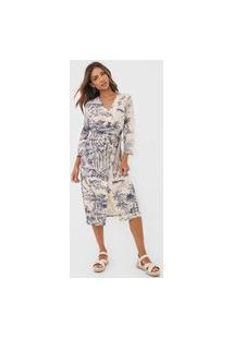 Vestido Desigual Midi Pacific Dream Bege