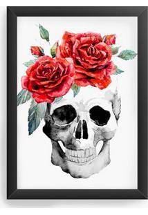 Quadro Decorativo Skull Flowes