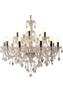 Lustre De Cristal Abadia De Westminster Para 15 Lâmpadas Bivolt