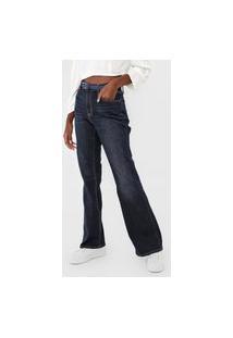 Calça Jeans Gap Flare Estonada Azul