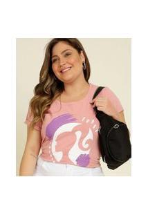 Blusa Plus Size Feminina Estampa Frontal Barbie