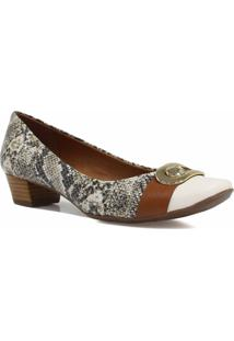 Sapato Jorge Bischoff Scarpin Metal Branco
