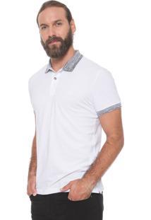 Camisa Polo Colcci Reta Mescla Branca