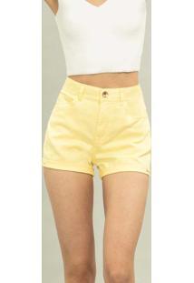 Shorts Miami I Am Soft Amarelo Lily - Lez A Lez