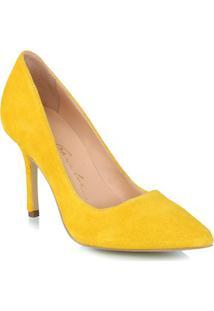 Scarpin Camurça Amarela