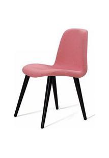 Cadeira Estofada Jacob Rosa Pes Palito Preto - 49522 Preto